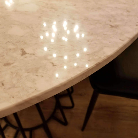 WINNIPEG MARBLE DINING TABLES-furniture stores regina-Hunters Furniture