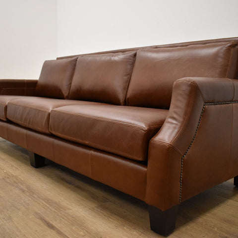 CHARLOTTE CUSTOM LEATHER SOFAS-furniture stores regina-Hunters Furniture
