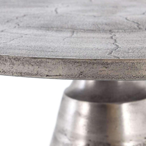 SEATTLE NICKEL FINISH DINING TABLES-furniture stores regina-Hunters Furniture