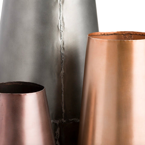 FLAGSTAFF METAL VASES-furniture stores regina-Hunters Furniture