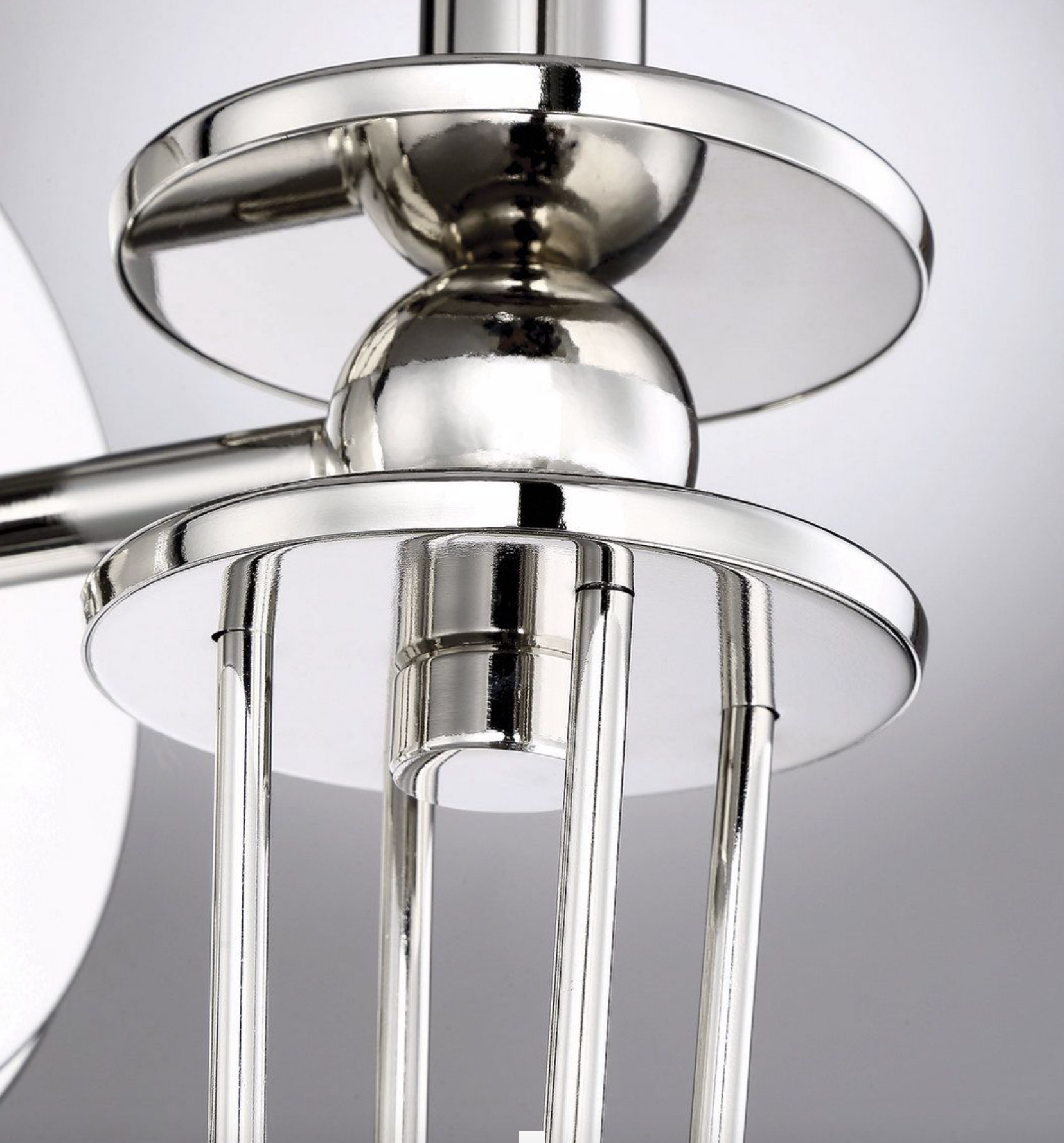 METROPOLITAN SHADED POLISHED NICKLE LIGHTING-furniture stores regina-Hunters Furniture