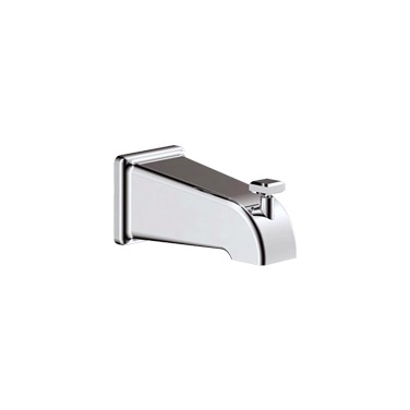 SQUARE TUB SPOUT W/DIVERTER CHROME