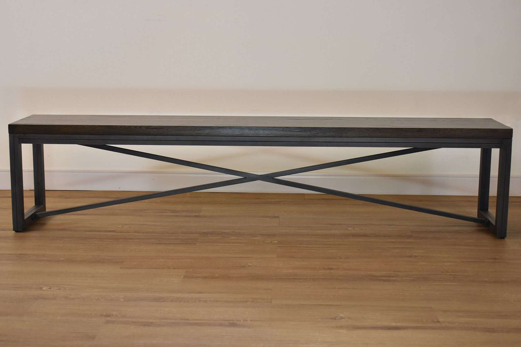 "TORONTO Espresso Brown White Oak - 78.7"" Dining Bench-furniture stores regina-Hunters Furniture"