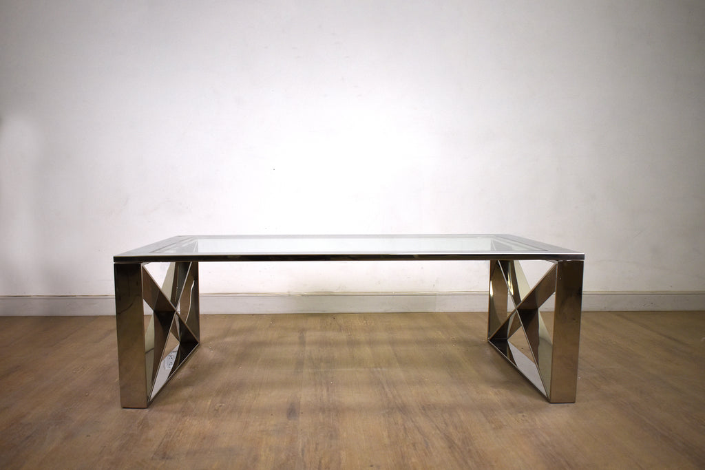 Madison Glass & Chrome Coffee Table