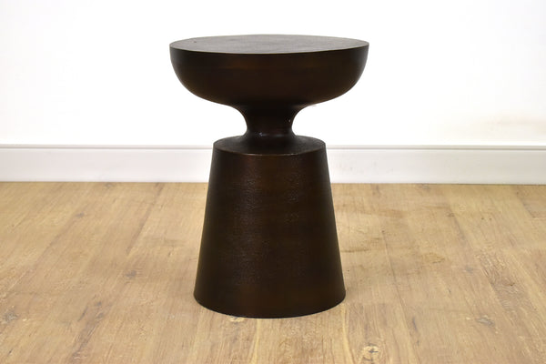 "SEATTLE Rustic Metal - 14"" Side Table"