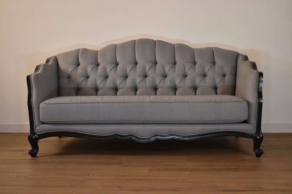 "209 Grey Fabric - 84"" Sofa-furniture stores regina-Hunters Furniture"