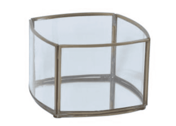 (Item Discontinued)  Brass Finish Frame Glass   -    Decor