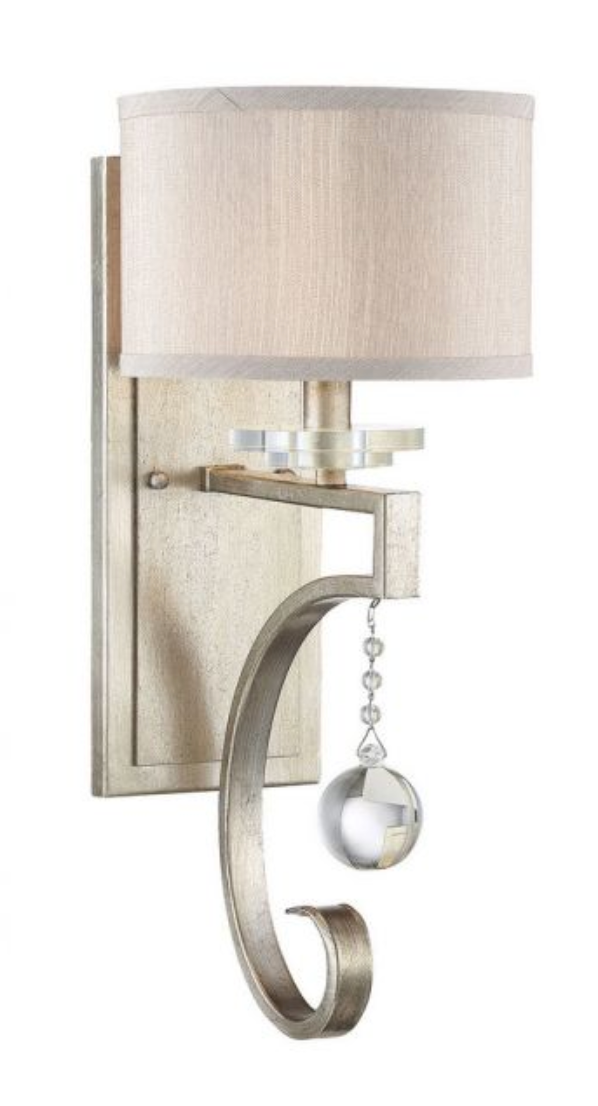 Rosendal 1 Light Sconce Silver Sparkle-furniture stores regina-Hunters Furniture