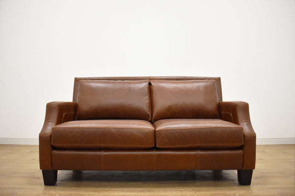 "CHARLOTTE CUSTOM LEATHER LOVESEAT 55""-furniture stores regina-Hunters Furniture"