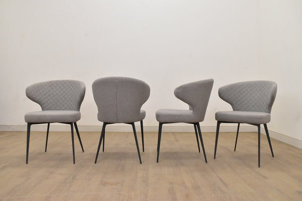 PERU PEYTON GREY CHAIR Grey Metal Finish (Set of 4 -$249 EACH)