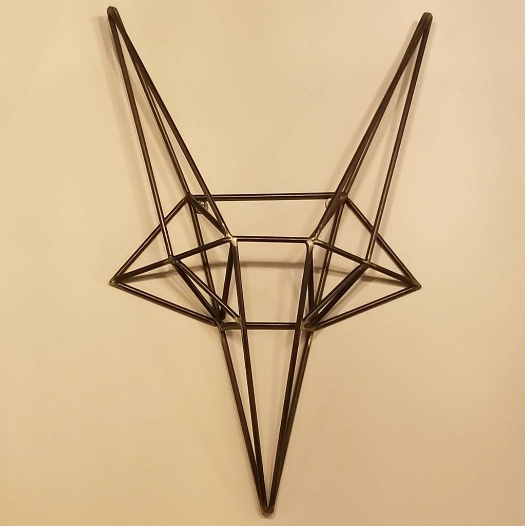 "Fox Head Metal - 22"" Wall Décor-furniture stores regina-Hunters Furniture"