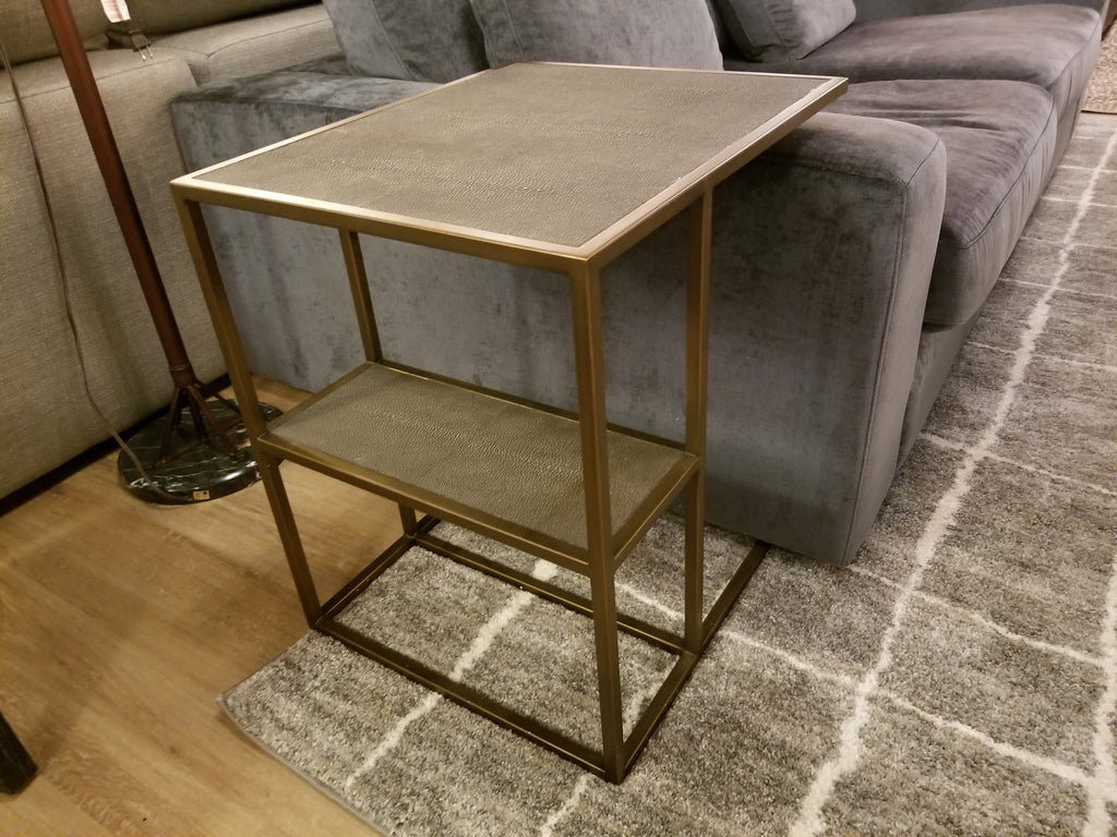 "SHAGREEN Antique Brass - Side Table 22"" L x 18"" W x 23"" H-furniture stores regina-Hunters Furniture"
