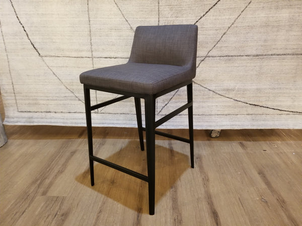 Wondrous N120 Charcoal Grey Fabric 34 Counter Stool Gmtry Best Dining Table And Chair Ideas Images Gmtryco