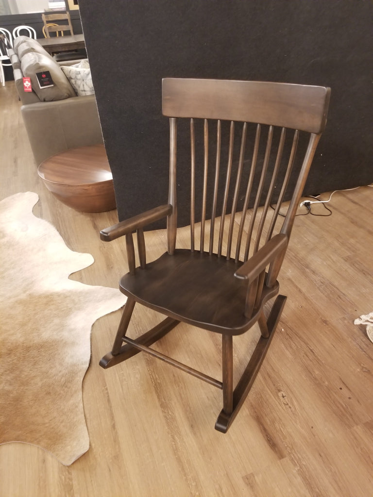 "Jagr Rocking Chair 24""Wx19.5""Dx43""H Cappuccino M2 Brown Maple Rustic Smooth Sanded-furniture stores regina-Hunters Furniture"