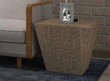 "SILVER LAKE II Light Brown Wood - 20"" Side Table-furniture stores regina-Hunters Furniture"
