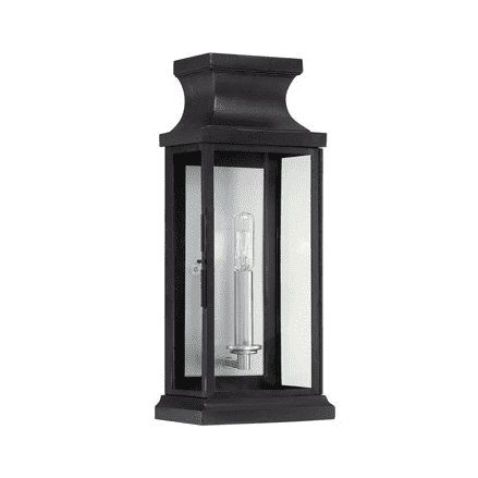 Brooke 1 Light Wall Lantern Black-furniture stores regina-Hunters Furniture