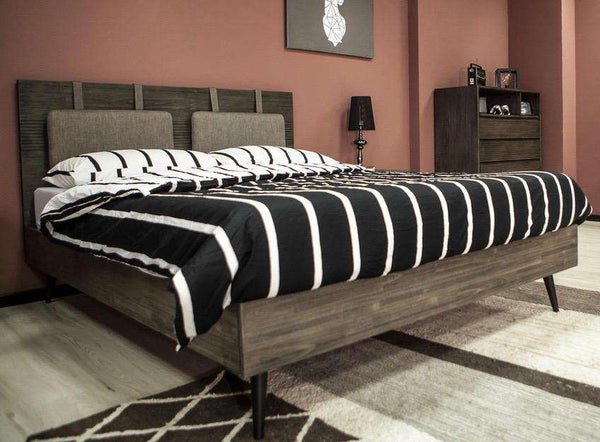 "ECHO PARK Brown Exotic Hardwood - 84"" King Bed-furniture stores regina-Hunters Furniture"