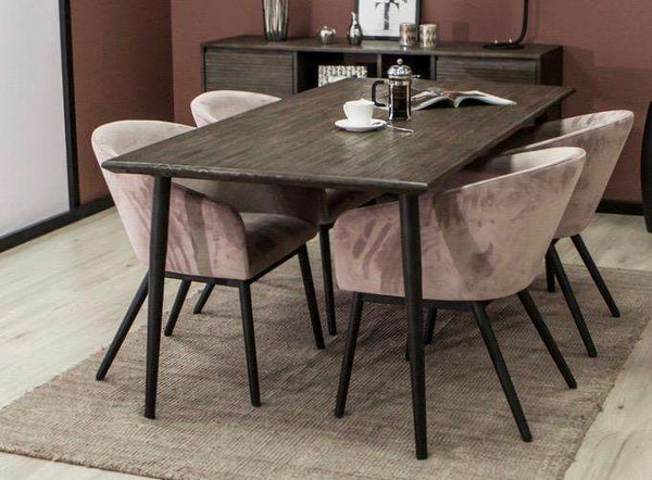 "ECHO PARK Light Brown Exotic Hardwood - 71"" Dining Table-furniture stores regina-Hunters Furniture"