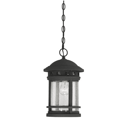 "(Item Discontinued) Upton 9"" Hanging Lantern Black-furniture stores regina-Hunters Furniture"
