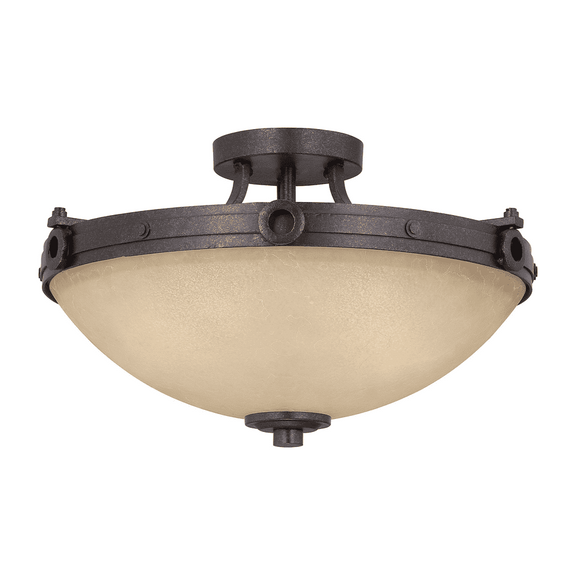 (Item Discontinued) Elba 3 Light Semi-Flush-furniture stores regina-Hunters Furniture