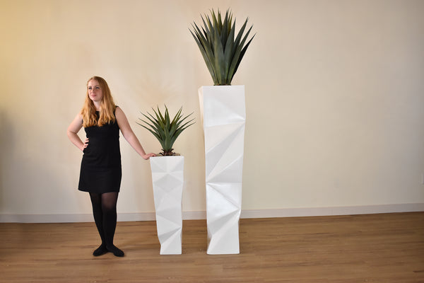 "MALIBU White Fibreglass - 36"" Planter-furniture stores regina-Hunters Furniture"