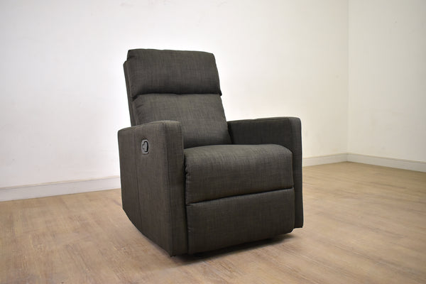 Charcoal Reclining Chair with glider-furniture stores regina-Hunters Furniture