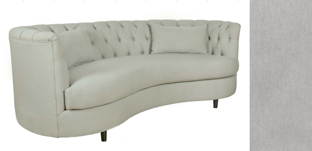 BEAN CONDO SOFA in Lindley Black Legs Woolly Dove (10)-furniture stores regina-Hunters Furniture