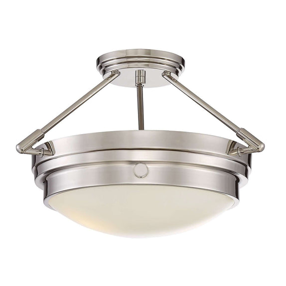 (Item Discontinued) Lucerne 2 Light Semi-Flush Polished Nickel-furniture stores regina-Hunters Furniture