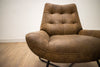ELLIOTT Brown Leather - Chair-furniture stores regina-Hunters Furniture