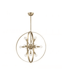 Marly 12 Light Chandelier Warm Brass-furniture stores regina-Hunters Furniture