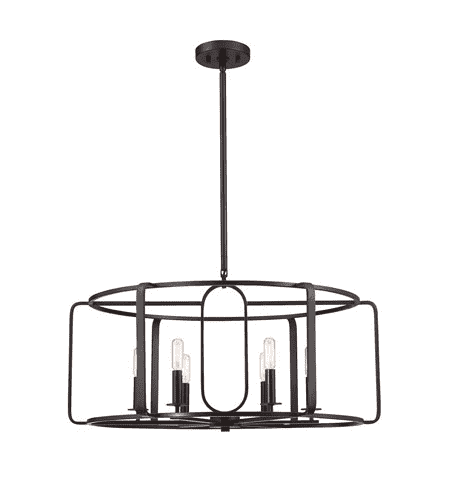 Santina 6 Light Chandelier English Bronze-furniture stores regina-Hunters Furniture
