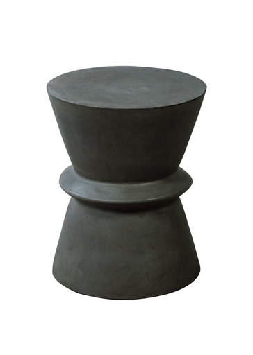 "BERLIN II Dark Grey Concrete Stool Concrete - 18"" Stool-furniture stores regina-Hunters Furniture"