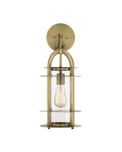 "Merrill 1 Light 20.5"" Lantern Warm Brass-furniture stores regina-Hunters Furniture"