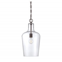 Franklin 1 Light Pendant English Bronze-furniture stores regina-Hunters Furniture