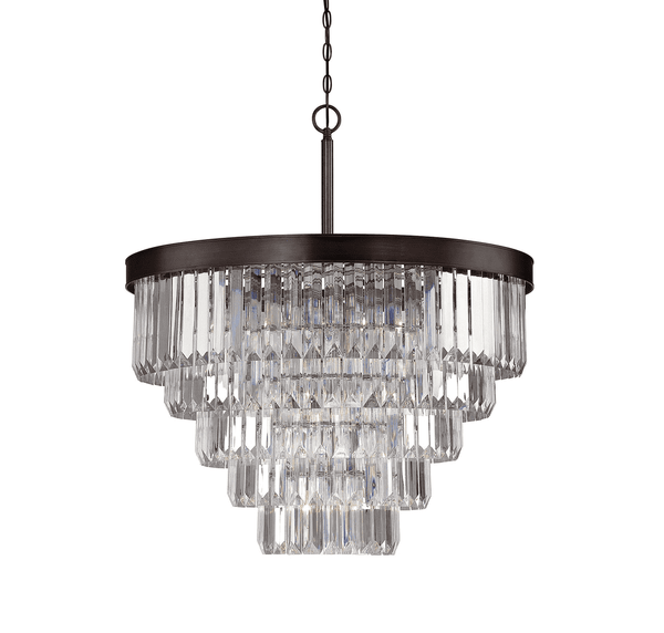 (Item Discontinued) Tierney 9 Light Chandelier Burnished Bronze (Display)-furniture stores regina-Hunters Furniture