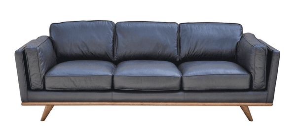 "SILVER LAKE PLUSH Black Leather - 89"" Sofa-furniture stores regina-Hunters Furniture"