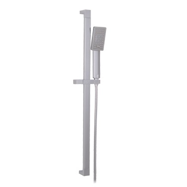 SQUARE SHOWER RAIL CHROME