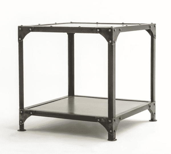 "MUNICH Reinforced Metal - 24"" Side Table-furniture stores regina-Hunters Furniture"