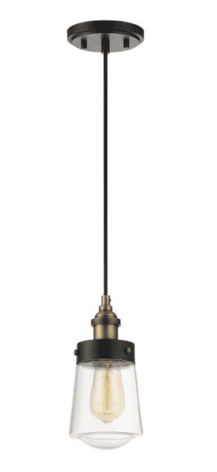 Macauley Mini Pendant Vintage Black with Warm Brass-furniture stores regina-Hunters Furniture