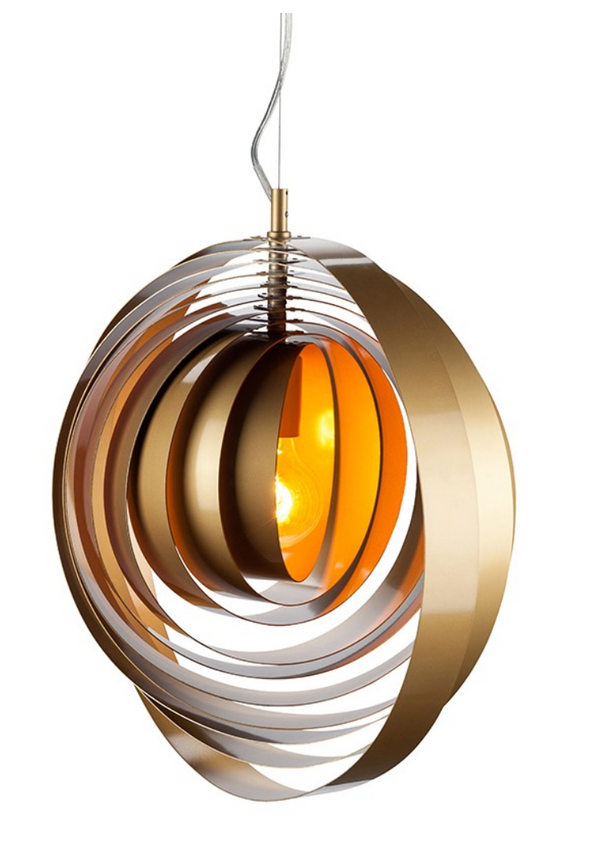ORBA PENDANT LIGHTING GOLD-furniture stores regina-Hunters Furniture