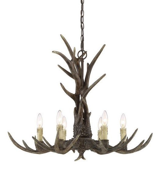 Blue Ridge 6 Light Chandelier New Tortoise Shell-furniture stores regina-Hunters Furniture