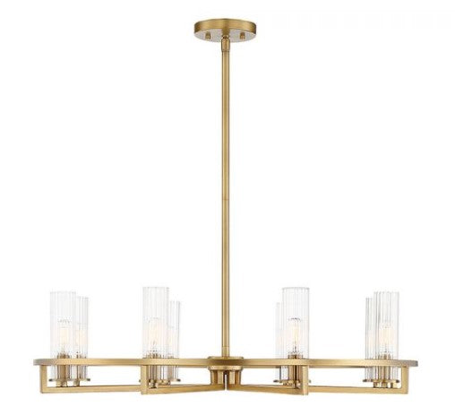 Bolton 8 Light Chandelier Warm Brass-furniture stores regina-Hunters Furniture