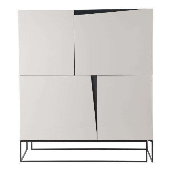 "122 White Metal & MDF - 48"" Dresser-furniture stores regina-Hunters Furniture"