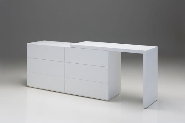"111 Matte White Wood - 61"" Dresser-furniture stores regina-Hunters Furniture"