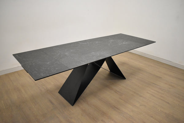 "ANNEX Slate Grey Marble - 63"" Dining Table-furniture stores regina-Hunters Furniture"