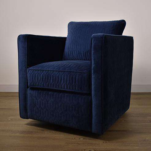 HARTFORD Twist Blue Fabric - Swivel Chair-furniture stores regina-Hunters Furniture
