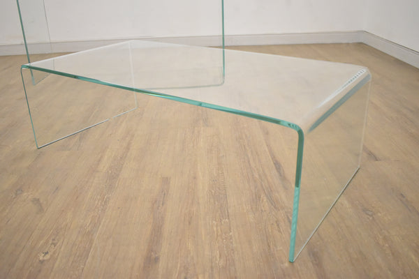 "VALLEY Clear Glass - 43"" Coffee Table-furniture stores regina-Hunters Furniture"