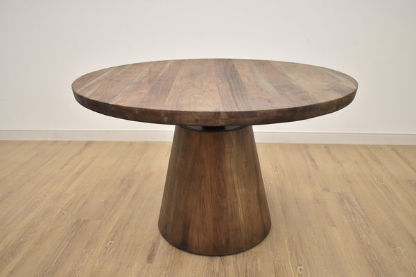 "TRIBECA 36"" Dia Brown Exotic Hardwood - 30-42"" High Bistro Table-furniture stores regina-Hunters Furniture"