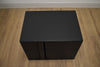"DETROIT Matte Black Wood - 22"" Left Night Stand-furniture stores regina-Hunters Furniture"