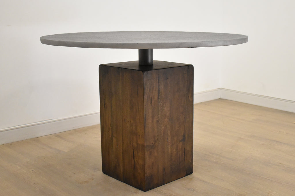 "MUNICH Wood and Metal - 42"" Dining Table-furniture stores regina-Hunters Furniture"